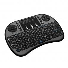 Πληκτρολόγιο Με Mousepad Riitek RT-MWK08+ Mini Wireless Μαύρο